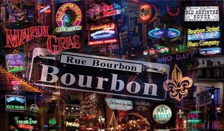 Bourbon Street by Giesla Hoelscher art print