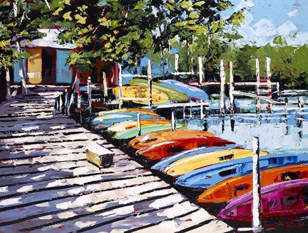 Kayak Dock by Joseph LaPierre art print