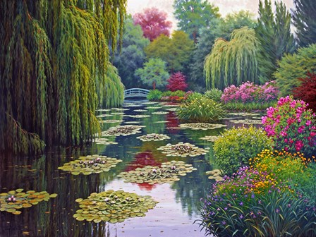 Garden Giverny by Charles White art print