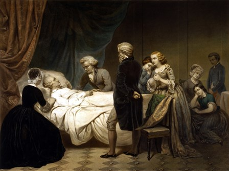 President George Washington on his Deathbed by John Parrot/Stocktrek Images art print
