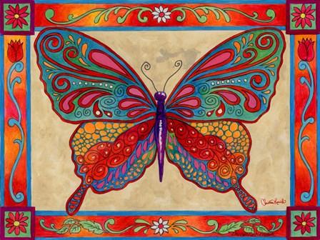 Mosaic Butterfly by Christine Kerrick art print