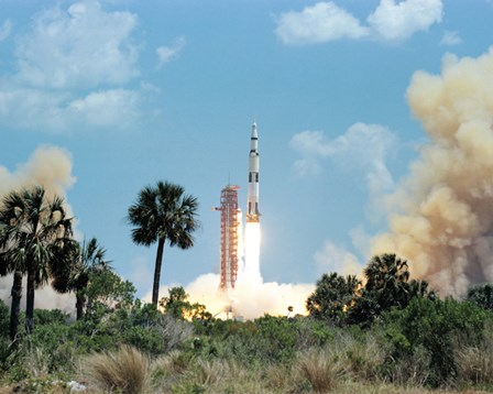 The Apollo 16 Space Vehicle is Launched from Kennedy Space Center by Stocktrek Images art print