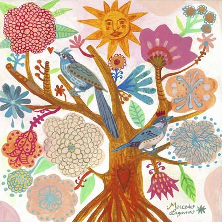 Sun Tree by Mercedes Lagunas art print