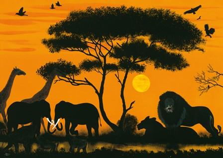 Okawango Park by Timothé Kodjo Honkou art print