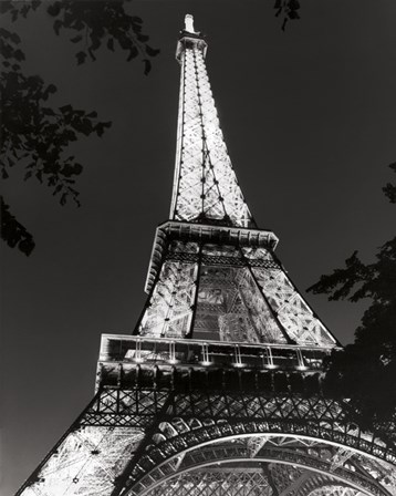 Eiffel Tower at Night by Christopher Bliss art print