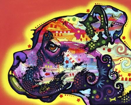 Profile Boxer 1 by Dean Russo art print