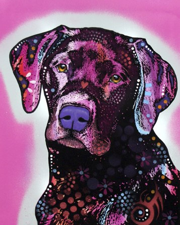 Black Lab by Dean Russo art print