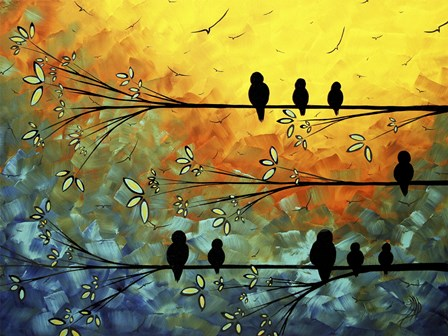 Birds Of A Feather by Megan Duncanson art print