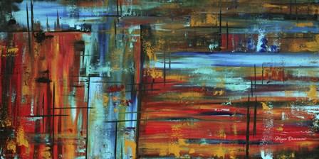 Into Autumn by Megan Duncanson art print