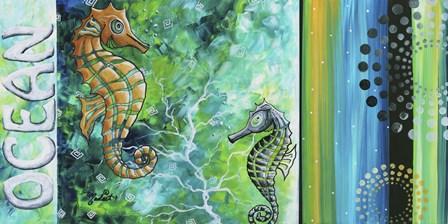 Ocean Sea of Whimsy by Megan Duncanson art print