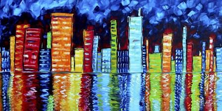 City Nights II by Megan Duncanson art print