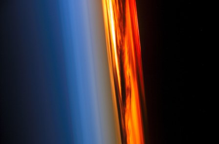 The Atmosphere and a Setting Sun by Stocktrek Images art print