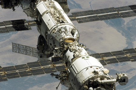 Close Up View of International Space Station by Stocktrek Images art print