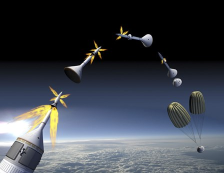 Artist's Rendering of an Emergency use System of the Launch Abort System by Stocktrek Images art print