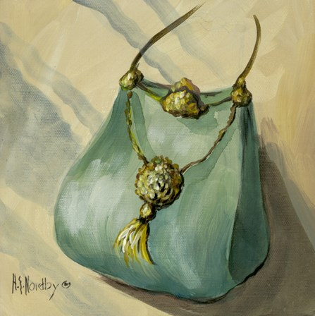 Purse Green by Harriet Nordby art print