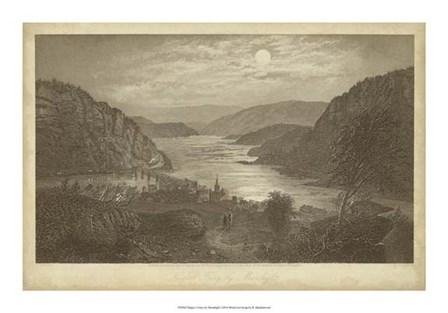 Harper's Ferry by Moonlight by R. Hinshelwood art print