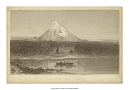 Mount Hood from Columbia by R. Hinshelwood art print