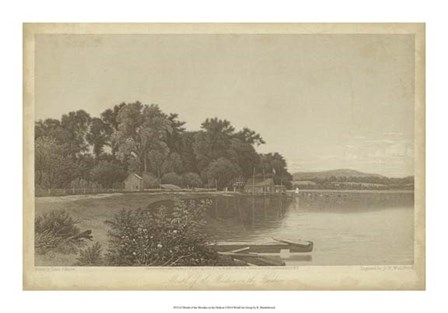 Mouth of the Moodna on the Hudson by R. Hinshelwood art print