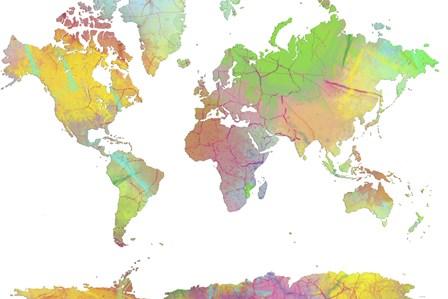 World Map 8 by Marlene Watson art print