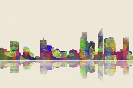 Perth WA Skyline 1 by Marlene Watson art print