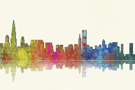 Chicago Illinios Skyline 1 by Marlene Watson art print