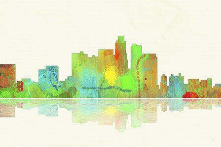 Los Angeles California Skyline 1 by Marlene Watson art print