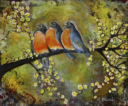 Robin Family by Blenda Tyvoll art print