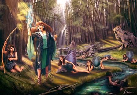 Gaias Haven by Anthony Christou art print