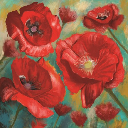 Red Poppies Bloom of Joy by Anthony Christou art print