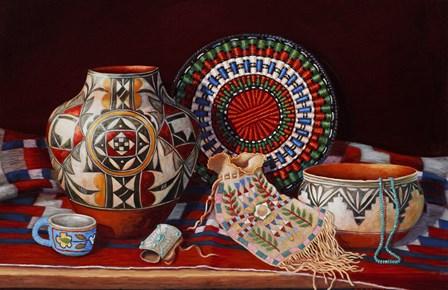 Tribal Art by Marty LeMessurier art print