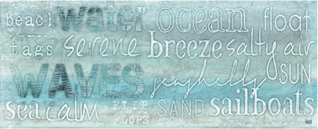 Seascape Sentiment II by Hartworks art print