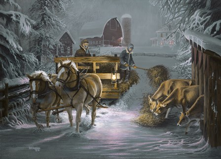 Snow Bound by David Rottinghaus art print