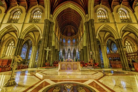 Church Interior by Lincoln Harrison art print
