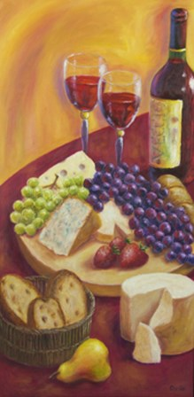 Italian Table by Debra Ozello art print