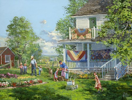 Airing the Quilts by Peter Snyder art print