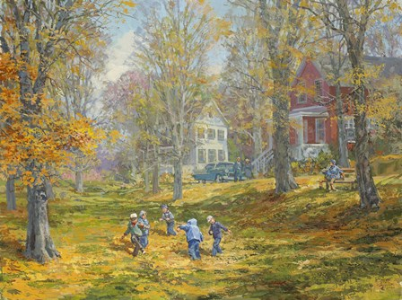Autumn Dance - Kids Ability by Peter Snyder art print
