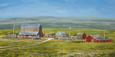 Cypress Hills Farm by Peter Snyder art print