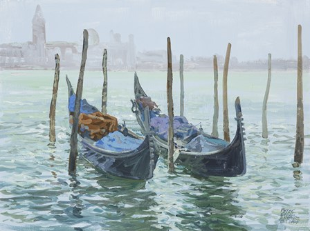 Gondolas by Peter Snyder art print