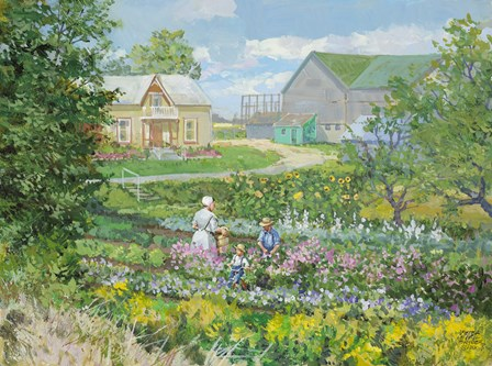 St. Jacobs Garden by Peter Snyder art print