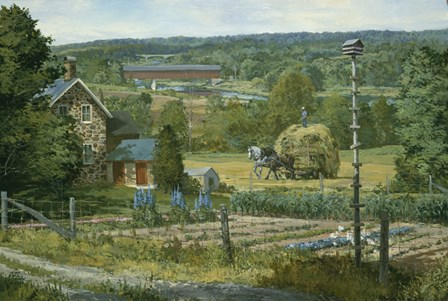 The Martin House by Peter Snyder art print