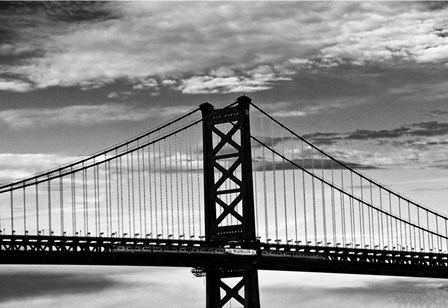 Benjamin Franklin Bridge (b/w) by Erin Clark art print