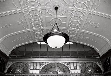 Entry Ceiling (b/w) by Erin Clark art print