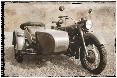 Ural Motorcycle 1 by Erin Clark art print
