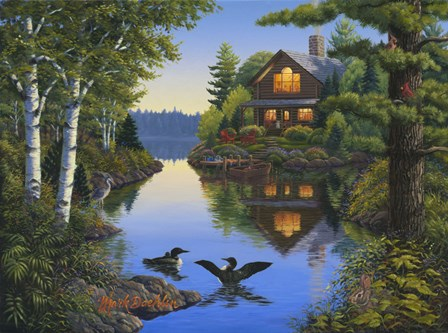 Lake Cabin by Mark Daehlin art print