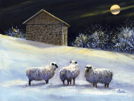 January Fleece by Jerry Cable art print