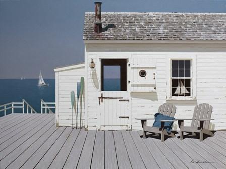 Dock House by Zhen-Huan Lu art print