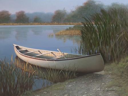 On the Lake by Zhen-Huan Lu art print