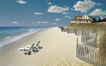 Beach House View by Zhen-Huan Lu art print