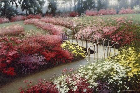 Monet's Flower Garden by Zhen-Huan Lu art print