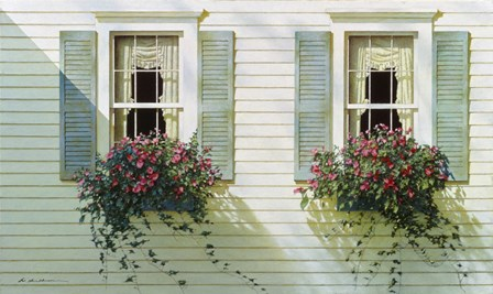 Windows With Flowerboxes by Zhen-Huan Lu art print